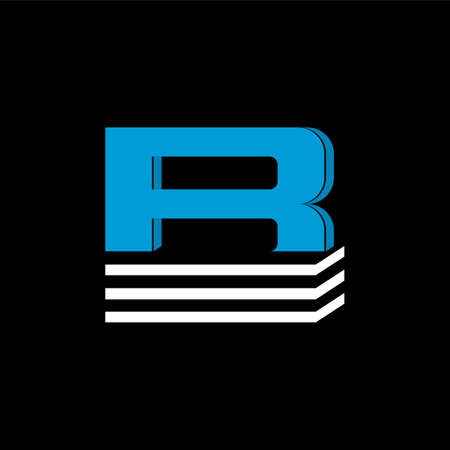 The logo is the LETTER B. The bottom is made of 3 horizontal lines.