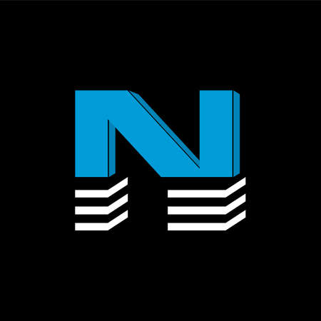 The logo is the LETTER N. The bottom is made of 3 horizontal lines.