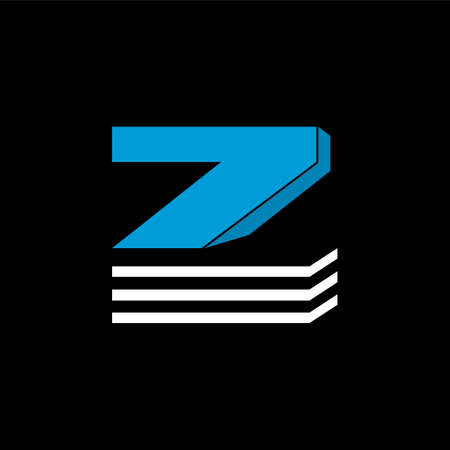 The logo is the LETTER Z. The bottom is made of 3 horizontal lines.