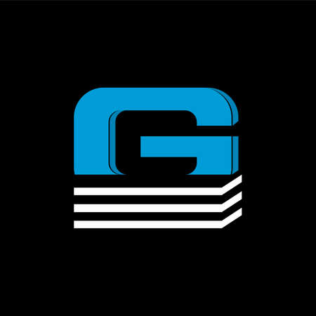 The logo is the LETTER G. The bottom is made of 3 horizontal lines.
