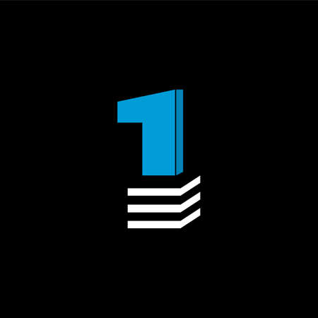 The logo is the NUMBER 1. The bottom is made of 3 horizontal lines.