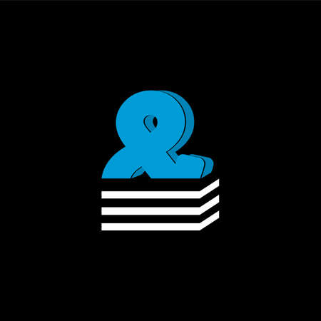 The logo is the LETTER AND. The bottom is made of 3 horizontal lines. Illustration