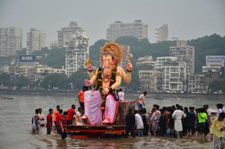 Mumbai, India, September 2013 - Ganesh the Elephant God Festival in Mumbai, India