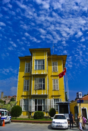 Yellow House and Blue Sky 1 photo