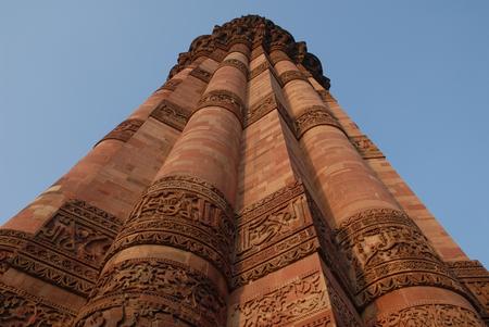 monument in india: Qutub Minar monument in Delhi, India
