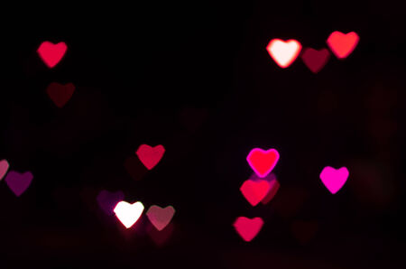 Bokeh heart shape of light photo