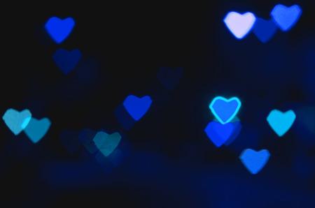 Bokeh heart shape of light photo