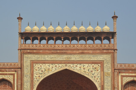 Decorative Main Entrance to Taj Mahal Mausoleum
