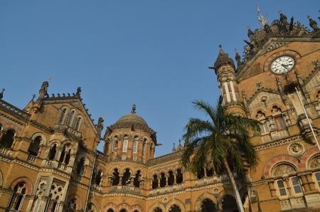 terminus: Chhatrapati Shivaji Terminus Victoria Terminus de Mumbai Editorial