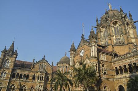 terminus: Exterior of Chhatrapati Shivaji Terminus (Victoria Terminus) of Mumbai