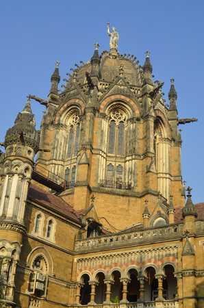 terminus: C�pula principal de Chhatrapati Shivaji Terminus (Victoria Terminus) de Mumbai