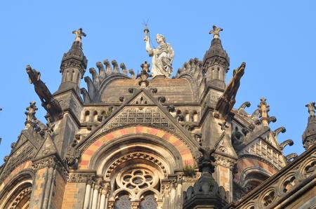 terminus: Dome of Chhatrapati Shivaji Terminus (Victoria Terminus) of Mumbai
