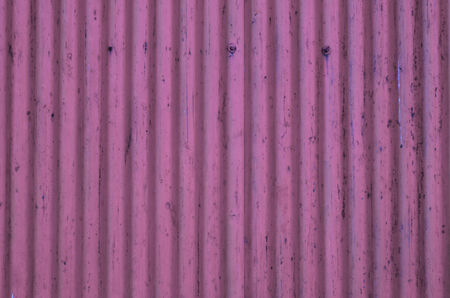 Corrugated Metal Sheet texture, background in pink