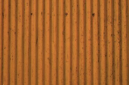 Corrugated Metal Sheet texture, background in orange color