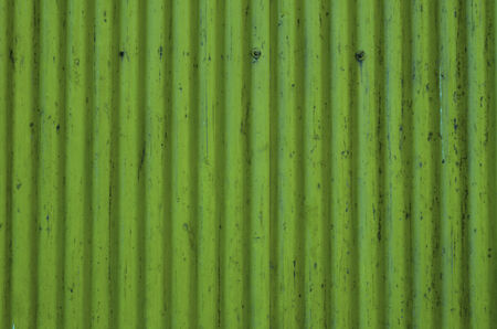 Corrugated Metal Sheet texture, background in green photo