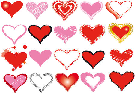 fundus: Set of 20 hearts for your designs