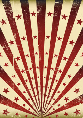 An old grunge flag for your advertising Vector Illustration