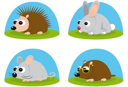 Illustration of little animals