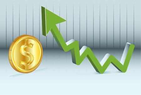 stock trader: el valor del d�lar est� subiendo.