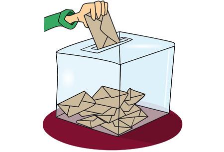 ballot: A cartoon ballot box