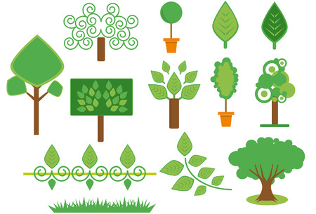 trees and plants set for you Vector