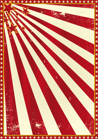 red stripe: A circus poster for your advertising