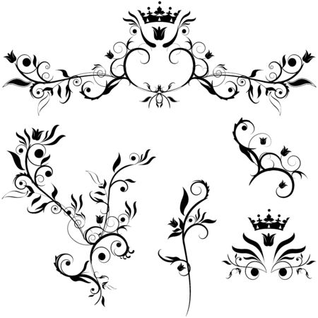 set of decorative plants Stock Vector - 5060455