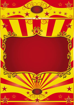 Circus background with a red frame for your circus show. Vector