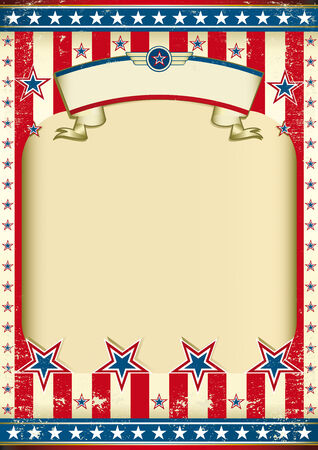 American poster for the independance day Vector
