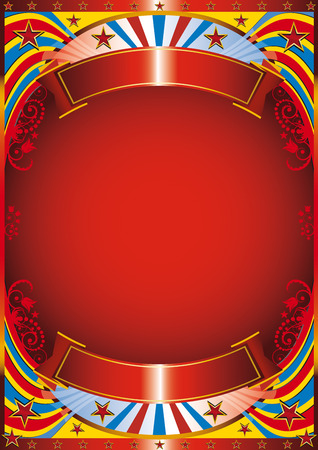 Circus background with a florish frame Stock Vector - 5060478