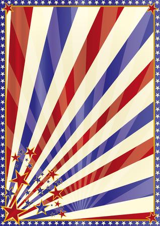 democrats: Am�rica circo de fondo con estrellas Vectores