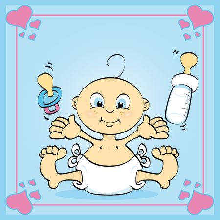 Just a card of a baby boy Stock Vector - 5060480