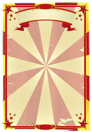 a used circus poster for your show Vector