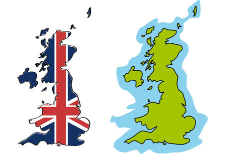 two maps of United Kingdom  Vector
