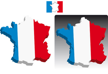 3D maps effect of France Stock Vector - 5126305