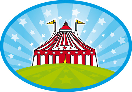 A big top with stars in the sky Vector