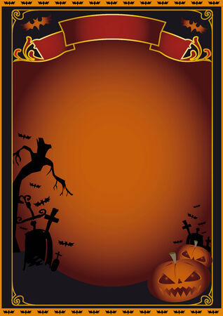 A poster for Halloween Vector