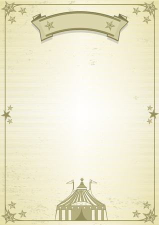a background for a poster or a letter (Circus theme) Vector