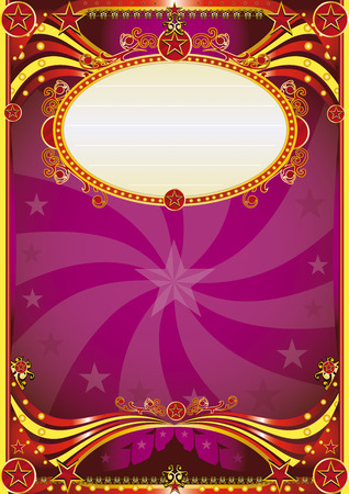 A purple circus background for a poster with a vortex. read your message ! Vector