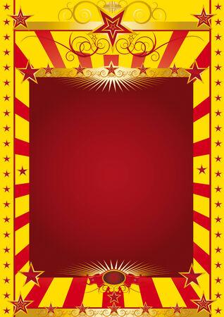 friso: Un cartel de circo con un friso barroco de oro