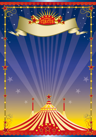 spot lit: A circus background with a big top for your show