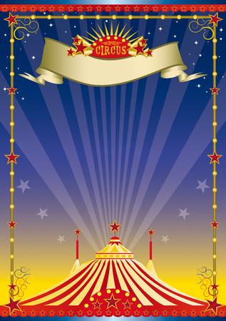 De achtergrond van een circus met een grote top voor uw show