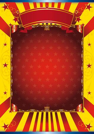 cabaret: Fond du cirque pour votre spectacle. lire votre message! Illustration