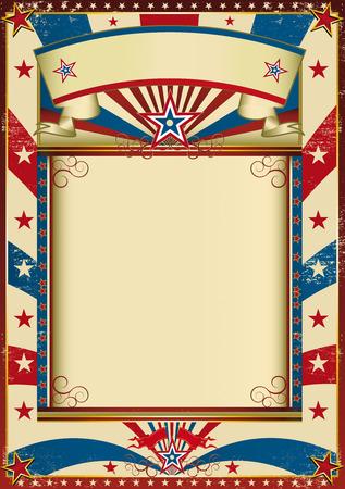american poster: Un nuevo fondo con un marco para su mensaje.