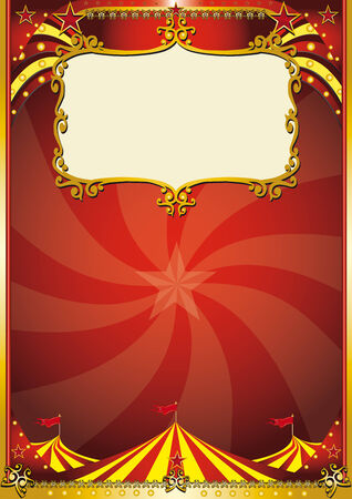 A new circus background with a big top for a poster. read your message ! Vector