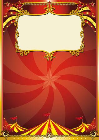 show bill: Un nuevo fondo de circo con un gran principio para un cartel. leer tu mensaje!