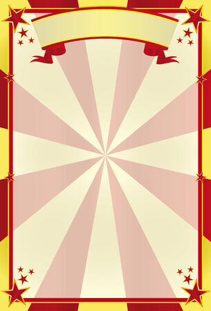 tarpaulin: A traditional circus background for a poster