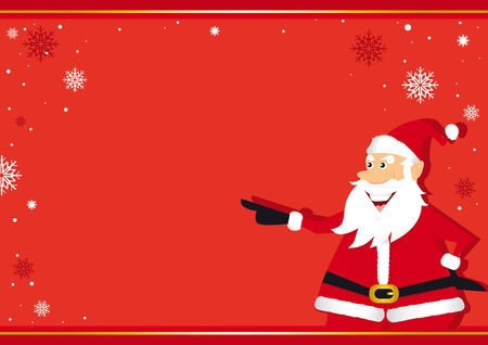 descriptive: A background with Santa Claus for a greeting card
