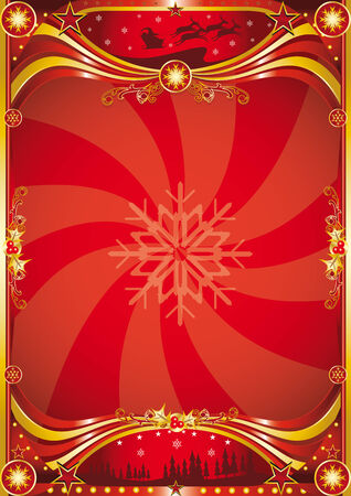 A red chrismas background for a poster. read your message ! Vector