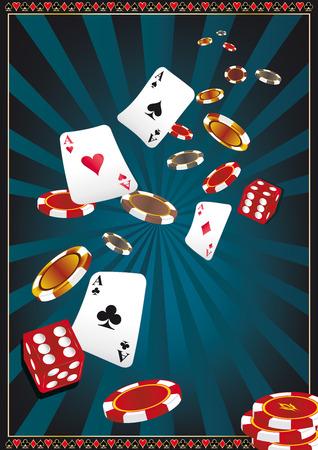 kartenspiel: Einen neuen Hintergrund f�r Ihr Casino.  Illustration